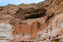 View Of Cliff Dwelling In Montezuma Castle National Monument