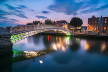 Ha'penny Bridge Over River Lif...