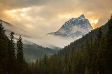 Scenic View Of Mountain Peak A...