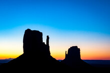 Monument Valley Tribal Park In Arizona During Sunrise