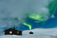 View Of Aurora Borealis Over C...