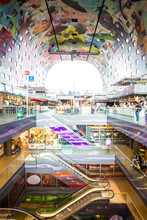Interior View Of Rotterdam Shopping Mall In Netherlands