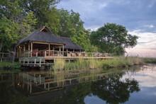 Riverside Dining Hall At Xakanaxa Safari Camp In Okavango Delta