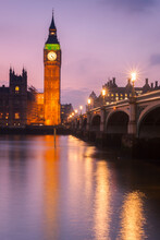 London's Big Ben Reflecting In River Thames