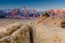 Scenic View Of Rock Formations During Sunrise