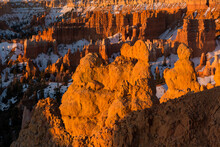 View Of Hoodoos In Bryce Canyon National Park During Sunrise