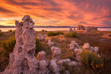 Scenic View Of Tufa Towers By ...