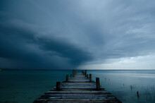View Of Wooden Pier At Lago Pe...