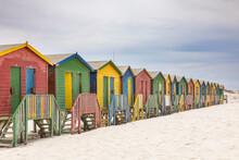 Colorful Beach Houses On Muizenberg Beach