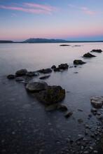 Yellowstone Lake At Dawn In Yellowstone National Park