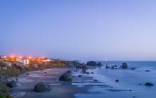 View Of Bandon Beach At Dusk