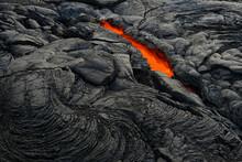 Active Lava Tube In Hawaii Vol...