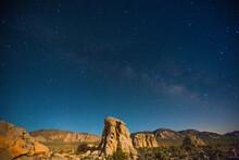 Scenic View Of Stars Above Roc...