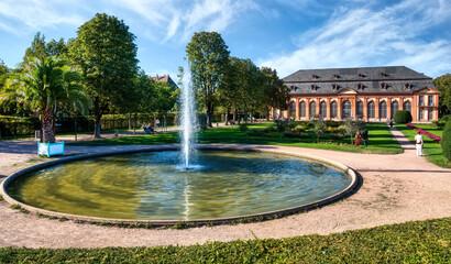 Orangery (Orangerie) with orangery garden in Darmstadt (Hesse, Germany)
