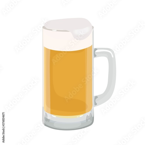 Canvastavla ビール ビールジョッキ イラスト