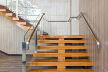 Modern Stairs In New Office Building