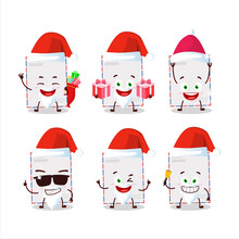 Santa Claus Emoticons With Sta...