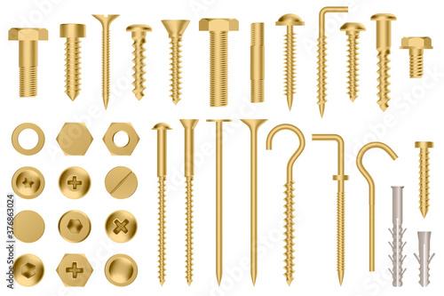 Obraz na plátně Realistic golden hardware