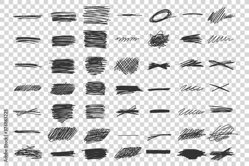 Fotografie, Obraz Scribble doodle set