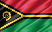 Silk Wavy Flag Of Vanuatu Grap...