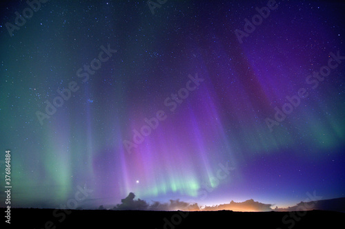 Aurora borealis -  northern lights Fotobehang