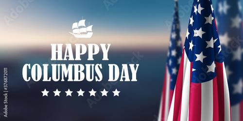 Fototapeta Happy Columbus Day obraz na płótnie