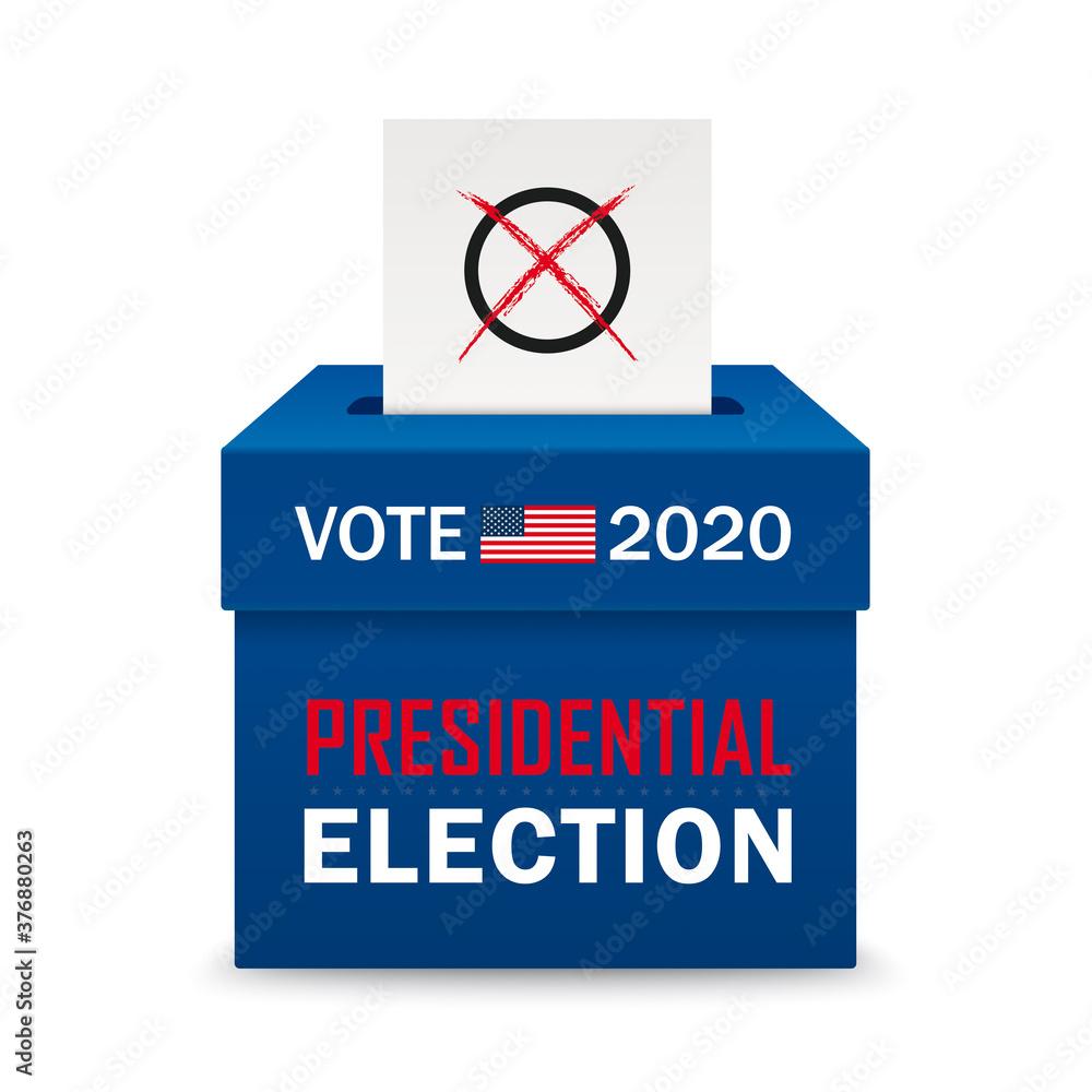 Fototapeta Voting Box Paper Presidential Election 2020