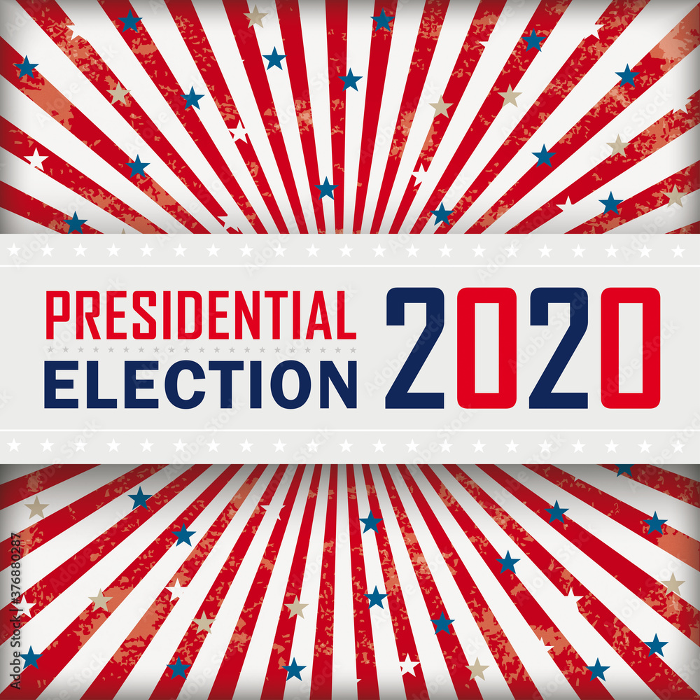 Fototapeta 4Vintage Sun Presidential Election Banner