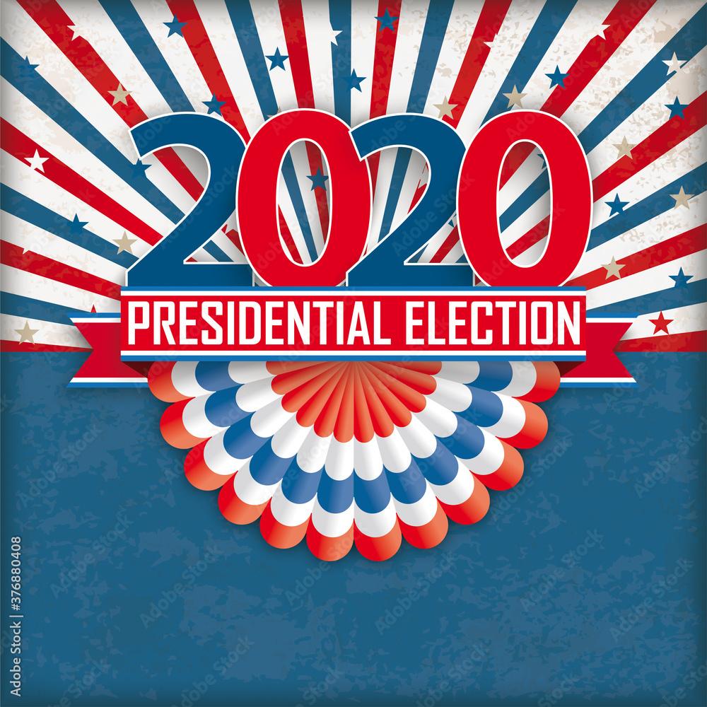 Fototapeta Presidential Election 2020 Bunting Retro Sun