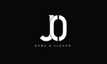 JO, OJ, J, O Abstract Letters Logo Monogram