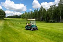 The Club Golf Cart At Luxury Golf Club.