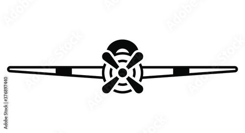 Obraz na plátně Fighter aircraft of world war II icon