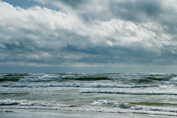 Panel Szklany Podświetlane Inspiracje na jesień Gray Baltic sea in autumn time.