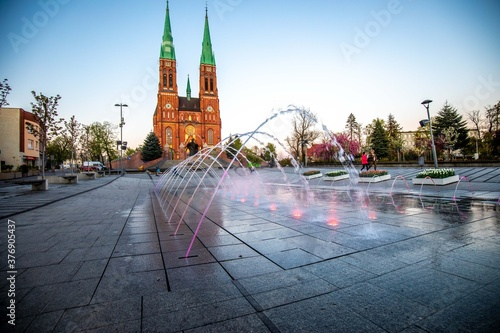 Fotografering Basilika St. Antonius, Rybnik, Polen, Neugotisch, Gotik