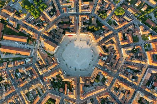 Palmanova città fortezza e Piazza Grande vista dall'alto -La città stellata ital Canvas Print
