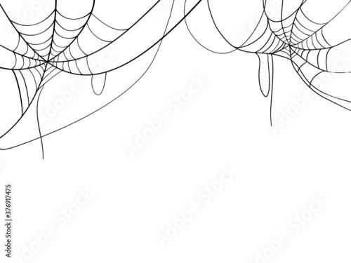 Fototapeta Black spider web