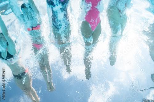 Obraz na plátně plongeon piscine
