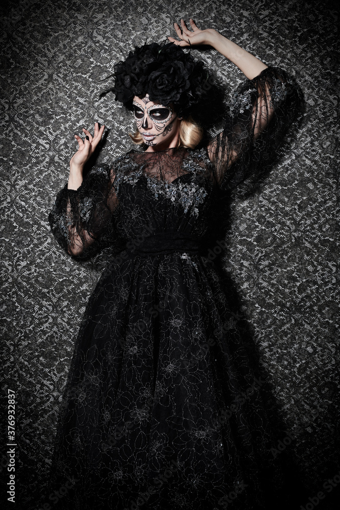 Fototapeta Catrina in black look