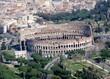 aerial view of the Colosseum and surrounding area, Rome Italy