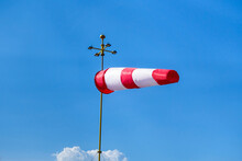 Red & White Striped Windsock I...