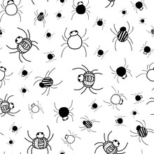 Crawly Spiders Pattern In Blac...