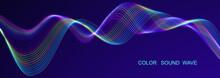 Colored Sound Wave. Equalizer ...