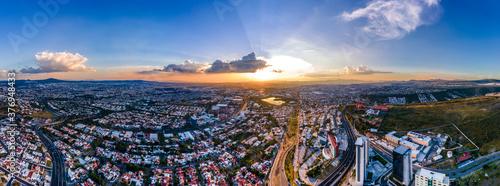 Obraz na plátně Sunset Aerial View from Querétaro, México