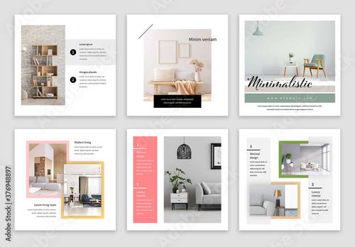 Fototapeta Clean and Minimal Social Media Post Layouts obraz