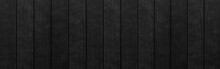 Panorama Of Wood Plank Black T...