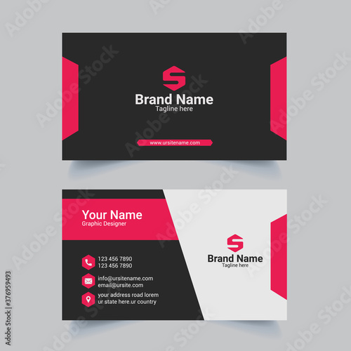 Foto Creative and Clean Double-sided Horizontal Modern Minimalist and Flat Business C