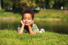 Portrait Of Little Boy In Autu...