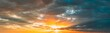 Leinwanddruck Bild - Sunshine In Sunrise Bright Dramatic Sky. Scenic Colorful Sky At Dawn. Sunset Sky Natural Abstract Background. Panorama Panoramic View