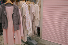 Pink Clothing Pastel Matching Store Front