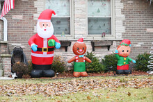 Inflatable Santa And Elves